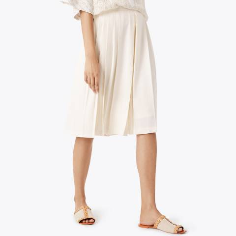 Tory Burch Navy Faye Pleated Culottes