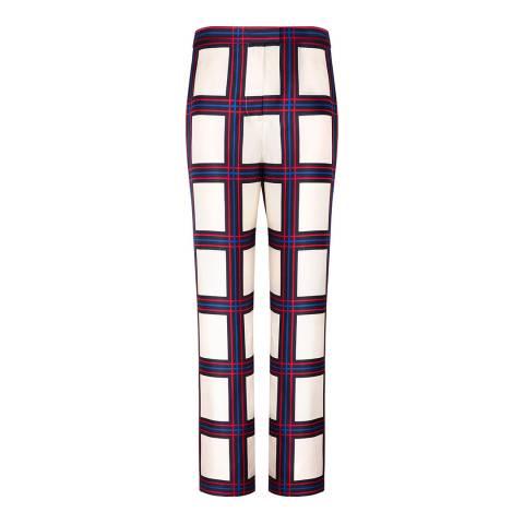 Tory Burch Multi Harper Wide Silk Trousers