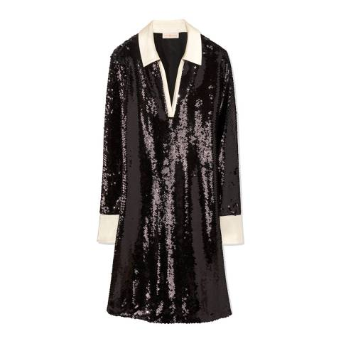 Tory Burch Black Monica Sequin Dress