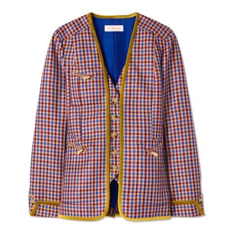 Tory Burch Multi Ainsley Check Blazer