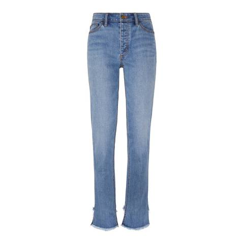 Tory Burch Blue Serena Straight Jeans