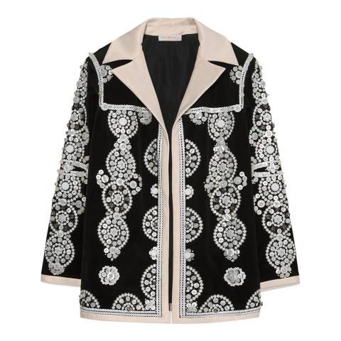 Tory Burch Black Sylvia Embellished Jacket
