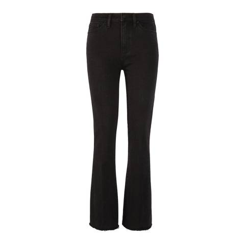 Tory Burch Black Wade Frayed Flared Jeans