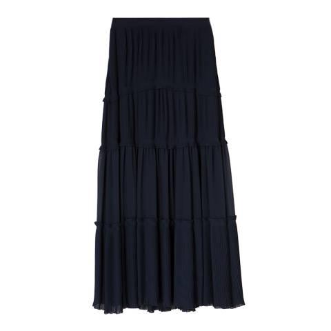 Tory Burch Navy Stella Maxi Skirt