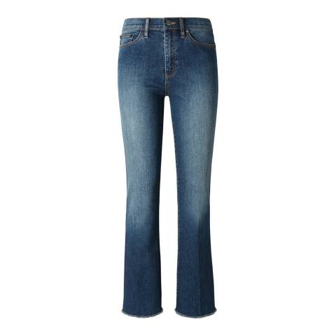 Tory Burch Blue Ryan Frayed Flared Jeans