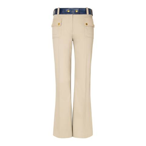Tory Burch Beige Joss Flared Trousers