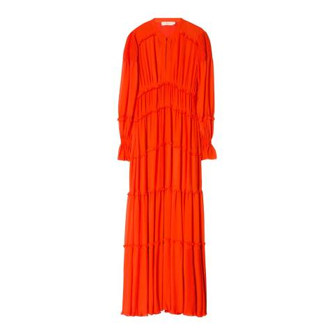 Tory Burch Orange Stella Gown Dress