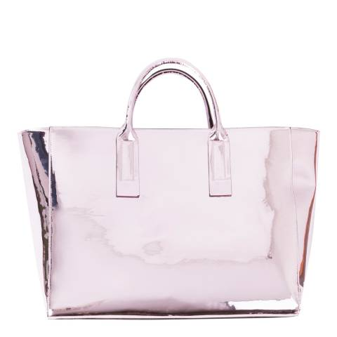 Pia Rossini Metallic Pink Dorado Tote Bag