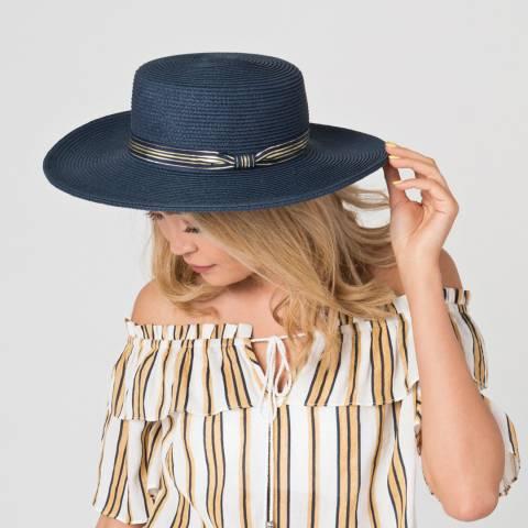 Pia Rossini Navy Madrid Hat