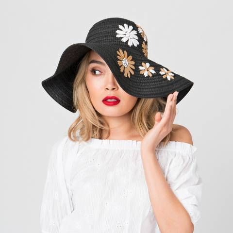Pia Rossini Black Oria Hat
