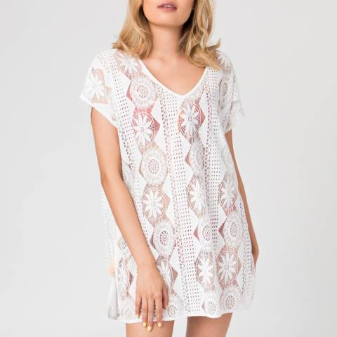 Pia Rossini White Topanga Short Cover Up