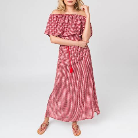 Pia Rossini Red Goya Maxi Dress