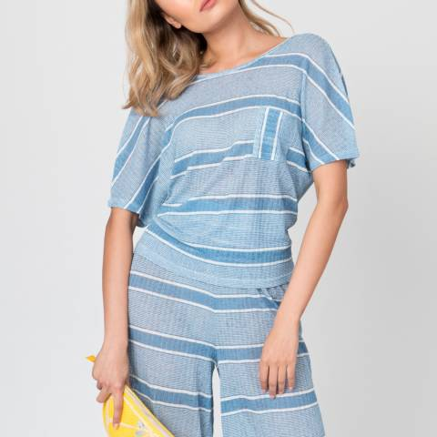 Pia Rossini Blue/White Bondi Top