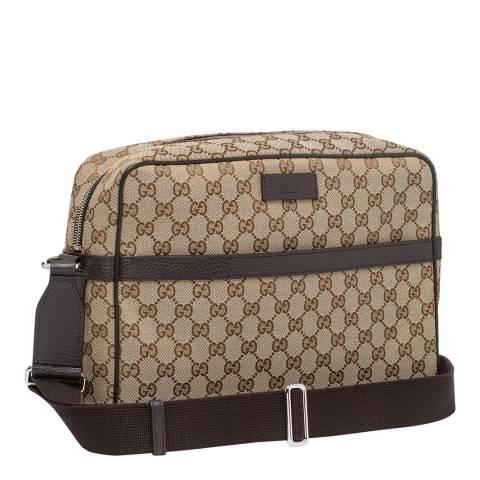 Gucci Beige Guccissima Canvas Messenger Bag