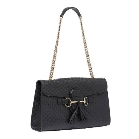 Gucci Women's Gucci Leather Tassel Detail Shoulder Bag