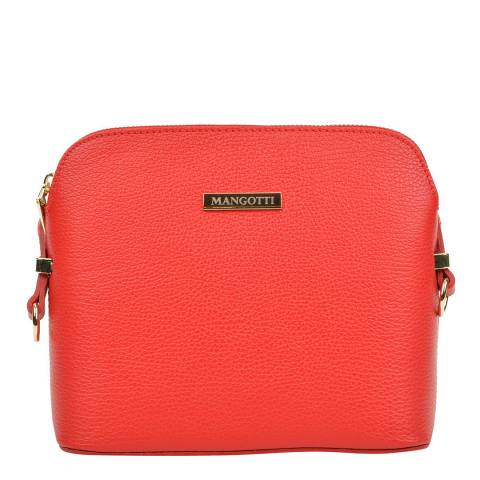 Mangotti Red Leather Crossbody Bag