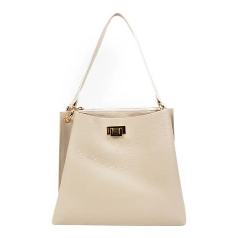 Sofia Cardoni Beige Leather Shoulder Bag