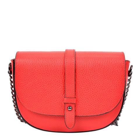 Sofia Cardoni Red Leather Crossbody Bag