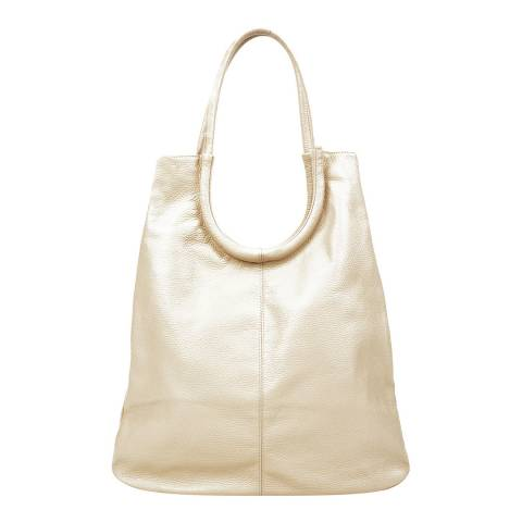 Sofia Cardoni Beige Leather Shoulder Bag