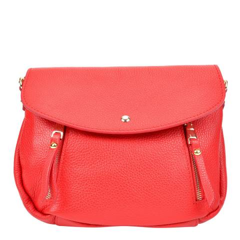 Sofia Cardoni Red Leather Crossbody Bag