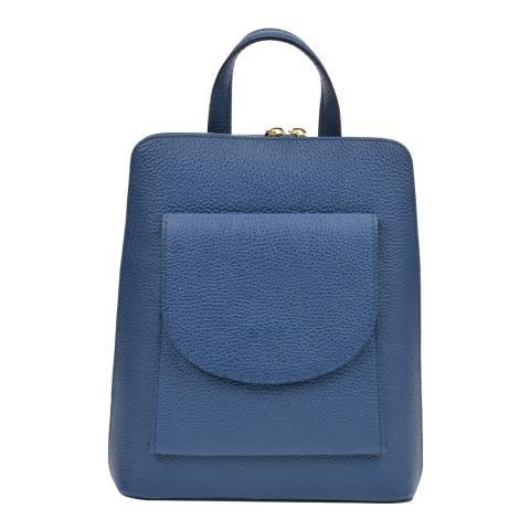 Mangotti Blue Leather Backpack