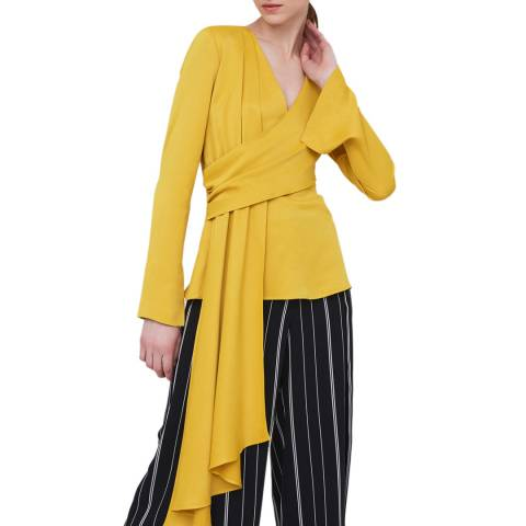 Outline Yellow Maiden Wrap Top