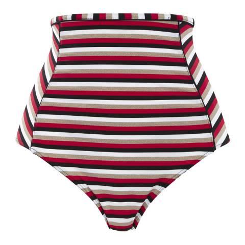 Panache Disco Stripe Summer High Waist Bottom