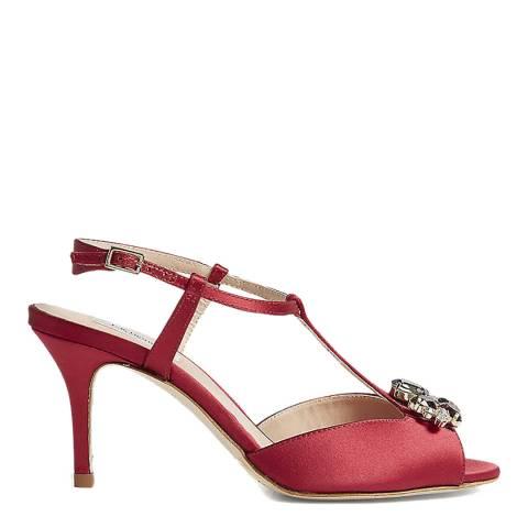 L K Bennett Raspberry Yvette Crystal Heeled Sandal