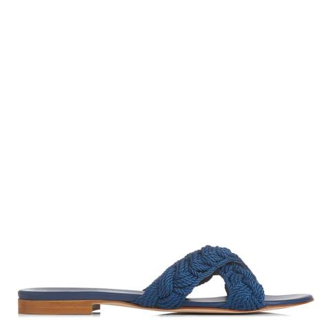 L K Bennett Blue Marine Dara Rope Plait Sandal