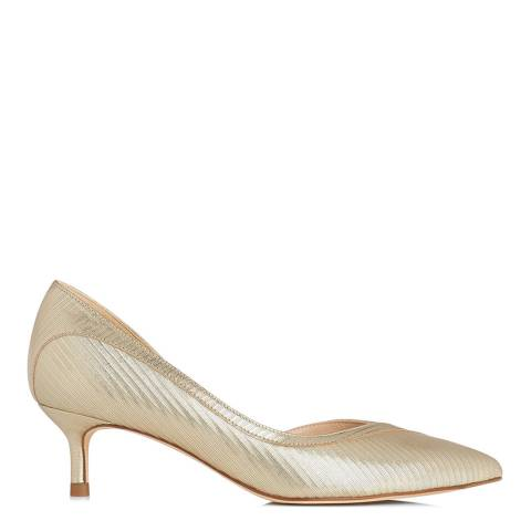 L K Bennett Soft Gold Layla Metallic Court Heel
