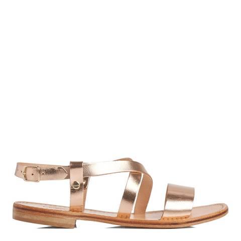 L K Bennett Rose Gold Hemera Gladiator Sandal