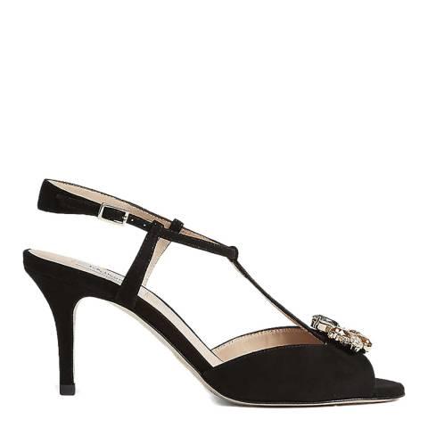 L K Bennett Black Yvette Crystal Heeled Sandal