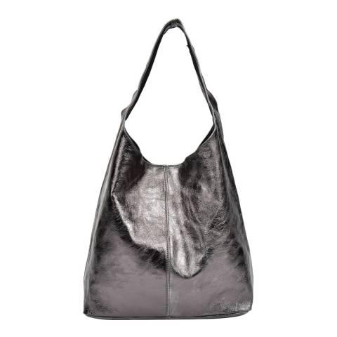 Sofia Cardoni Black Leather Hobo Bag
