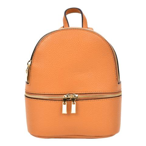 Sofia Cardoni Orange Leather Backpack