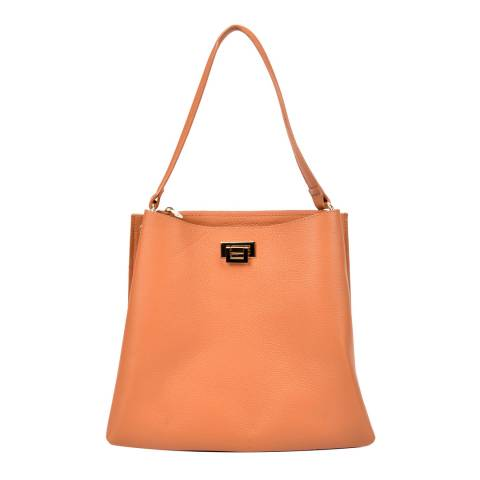 Sofia Cardoni Orange Leather Handbag