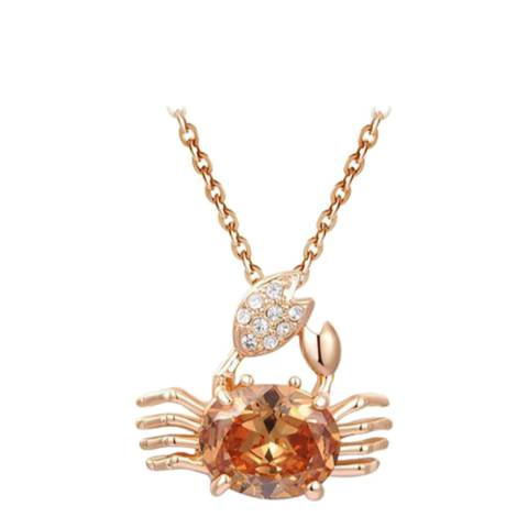 SWAROVSKI Crab Necklace with Swarovski Crystals