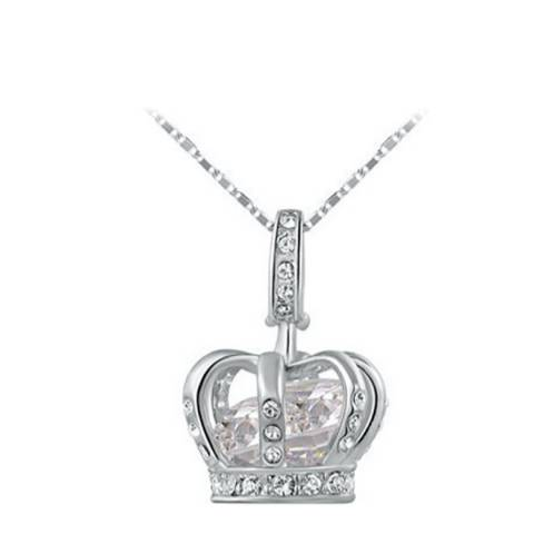 Ma Petite Amie Crown Necklace with Swarovski Crystals