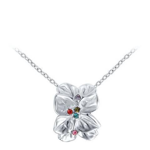 SWAROVSKI Rose Petal Necklace with Swarovski Crystals
