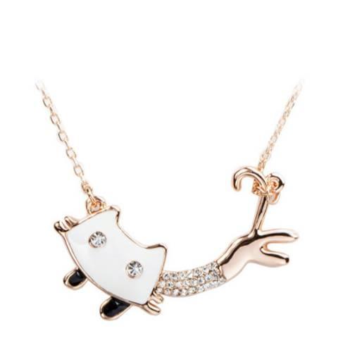 SWAROVSKI Cat Necklace with Swarovski Crystals