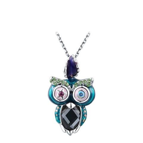 Ma Petite Amie Owl Necklace with Swarovski Crystals