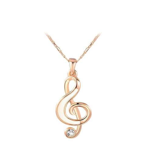 Ma Petite Amie Music Note Necklace with Swarovski Crystals