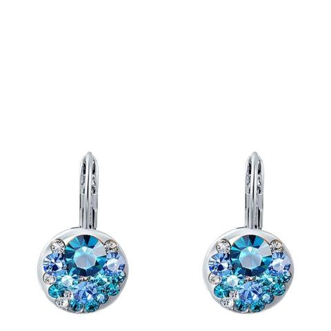 Ma Petite Amie Sapphire Clip Earrings with Swarovski Crystals