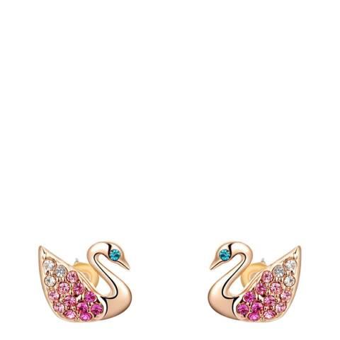 SWAROVSKI Swan Stud Earrings with Swarovski Crystals