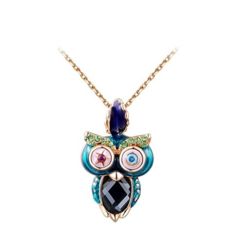 SWAROVSKI Owl Necklace with Swarovski Crystals