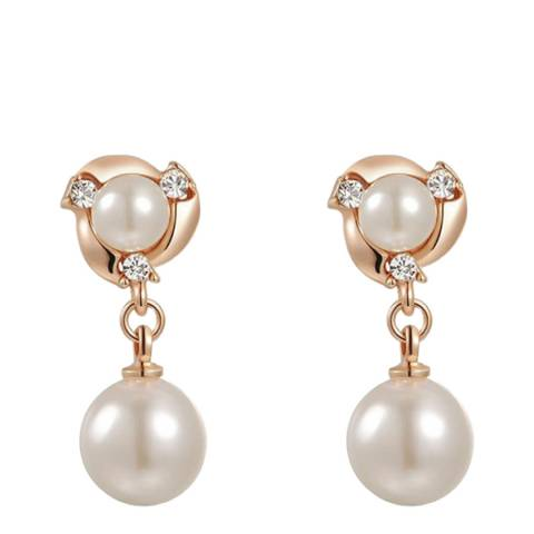 Ma Petite Amie Pearl Earrings with Swarovski Crystals