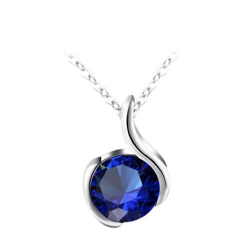 Ma Petite Amie Sapphire Star Necklace with Swarovski Crystals