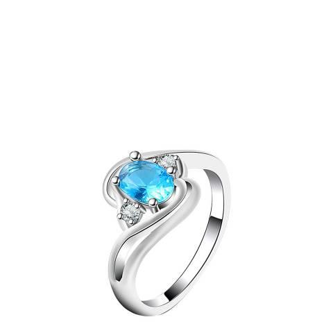 SWAROVSKI Sapphire Tear Drop Ring with Swarovski Crystals