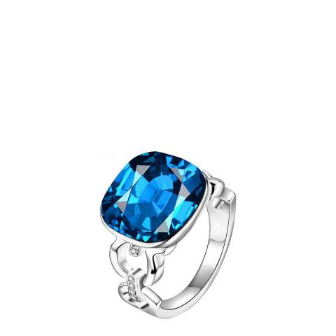 Ma Petite Amie Sapphire Ring with Swarovski Crystals
