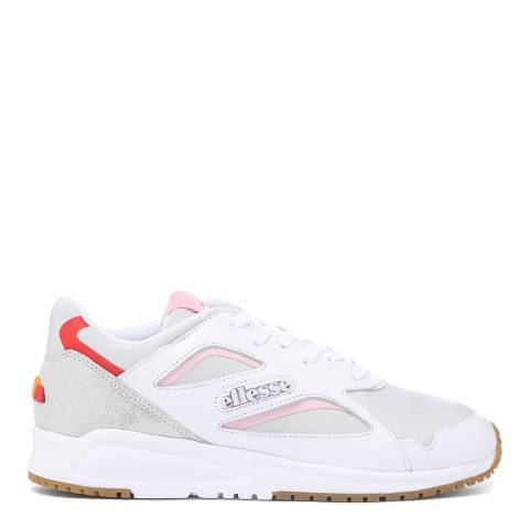 Ellesse White Glitter Contest Leather Trainer