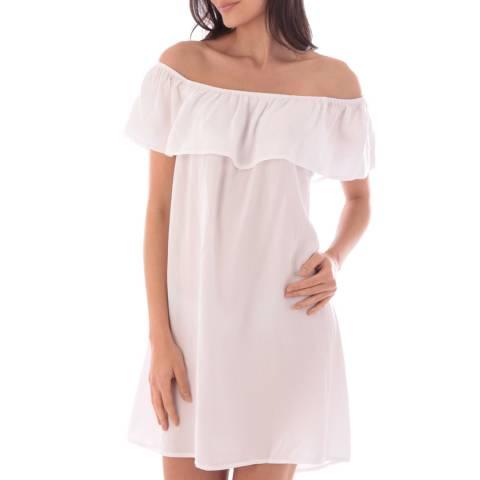Fille de Coton White Mina Cotton Dress